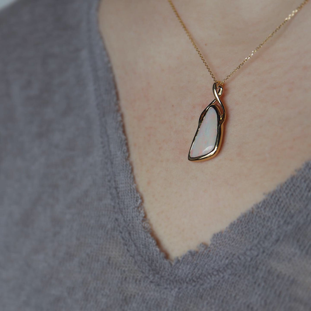 18k Opal Modern Necklace