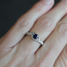 Load image into Gallery viewer, Sapphire and Pave Set Diamond Ring - Clearance