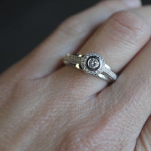Load image into Gallery viewer, Halo Diamond Ring with Pave Profiles - Clearance