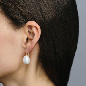 Baroque Freshwater Pearl Earrings in 14K