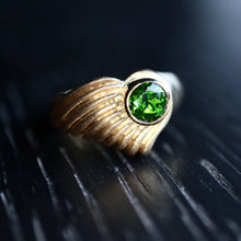 Load image into Gallery viewer, Green Tourmaline Shell Ring - Clearance
