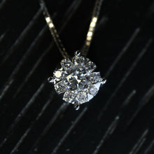 Load image into Gallery viewer, Large Diamond Cluster Necklace