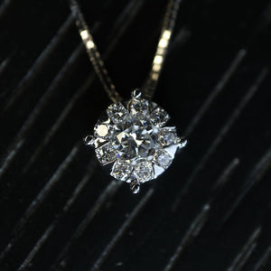 Large Diamond Cluster Necklace