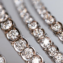 Load image into Gallery viewer, Natural Diamond Half Bezel Line Bracelets