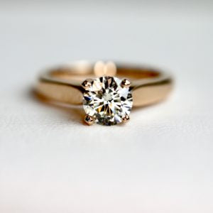 Classic Diamond Solitaire Engagement Ring Yellow Gold