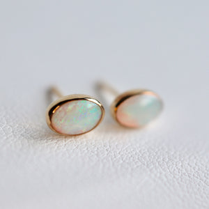 Opal Earrings in 14K Gold