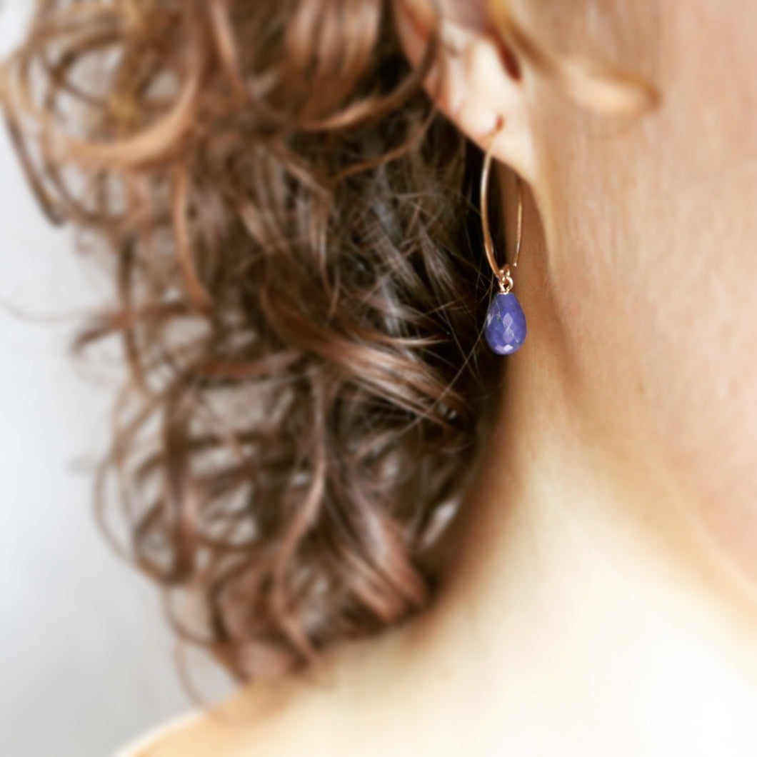 Lapis Briolet Earrings