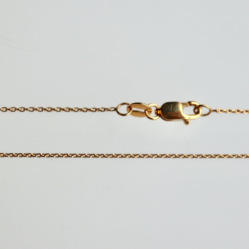 Dainty Cable Chain 14K Yellow Gold