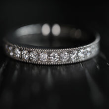 Load image into Gallery viewer, Wider Pavé Diamond Eternity Ring