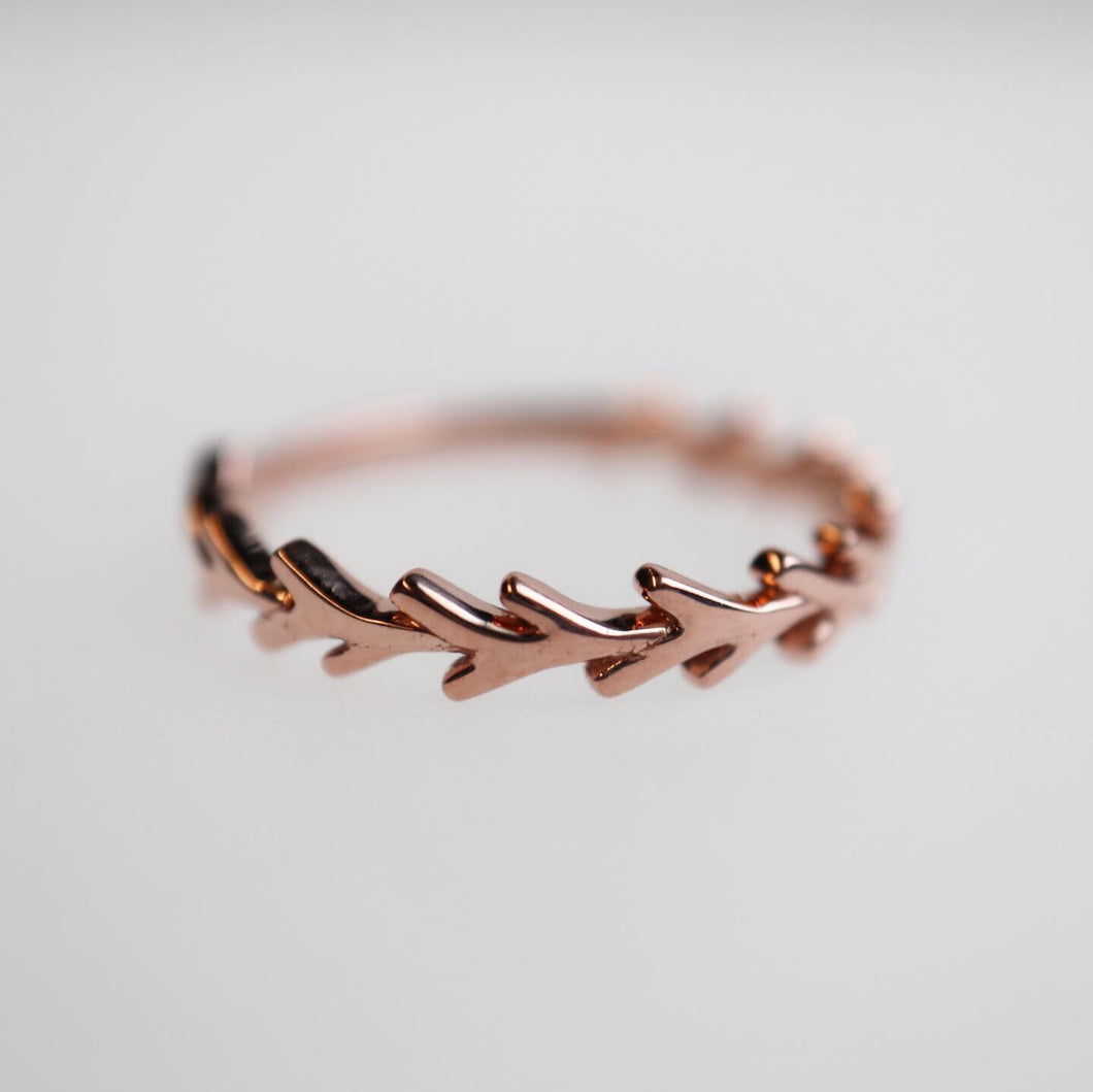 Rose Gold Branch Style Ring