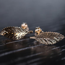 Load image into Gallery viewer, 14K Leaf Earrings