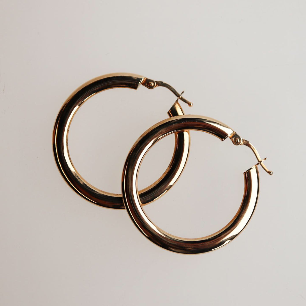 Large Hoop Earrings Knife Edge