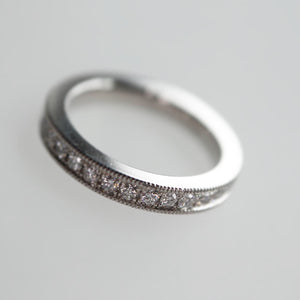 Wider Pavé Diamond Eternity Ring