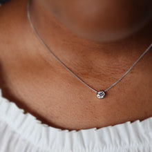 Load image into Gallery viewer, 0.90 carat Bezel Set Diamond Necklace