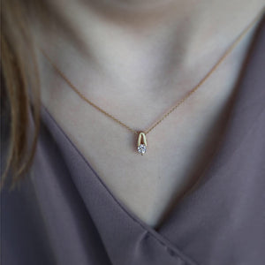 Wishing Diamond Solitaire Pendant in Yellow Gold