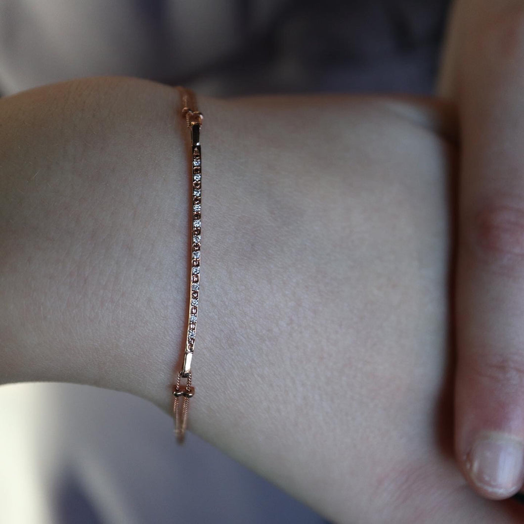 Rose Gold Pavé Bracelet