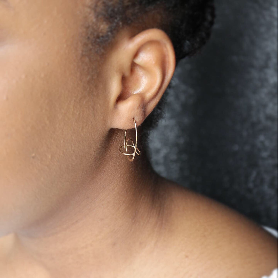 14K Gold Belle Earrings