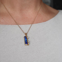 Load image into Gallery viewer, Original Design Black Opal & Diamond Pendant