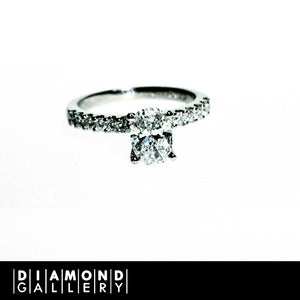 Diamond Accented Ring with Centre Diamond of Your Choice
