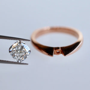 Rose Gold Ring With Diamond of Your Choice