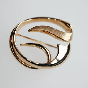 14K Solid Gold Freeform Pin