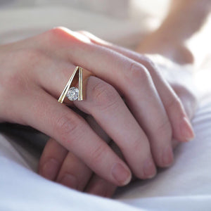Designer Channel Diamond Ring