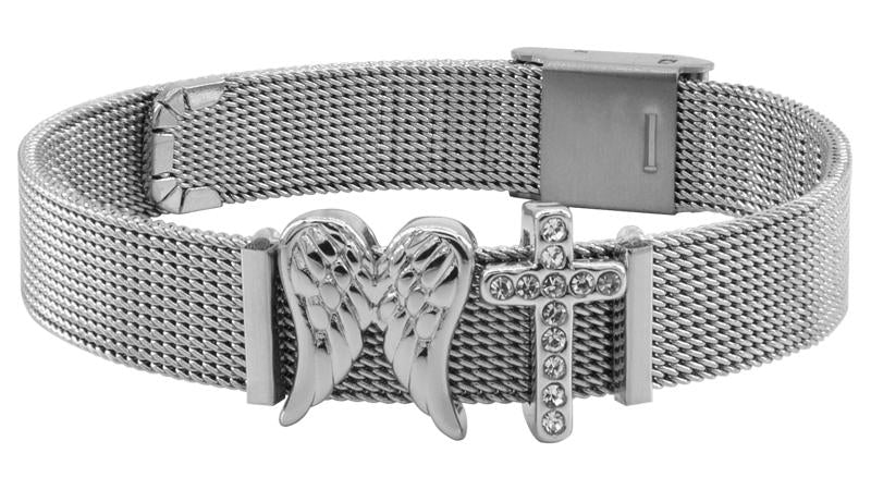 """Faith & Hope"" Mesh Bracelet"