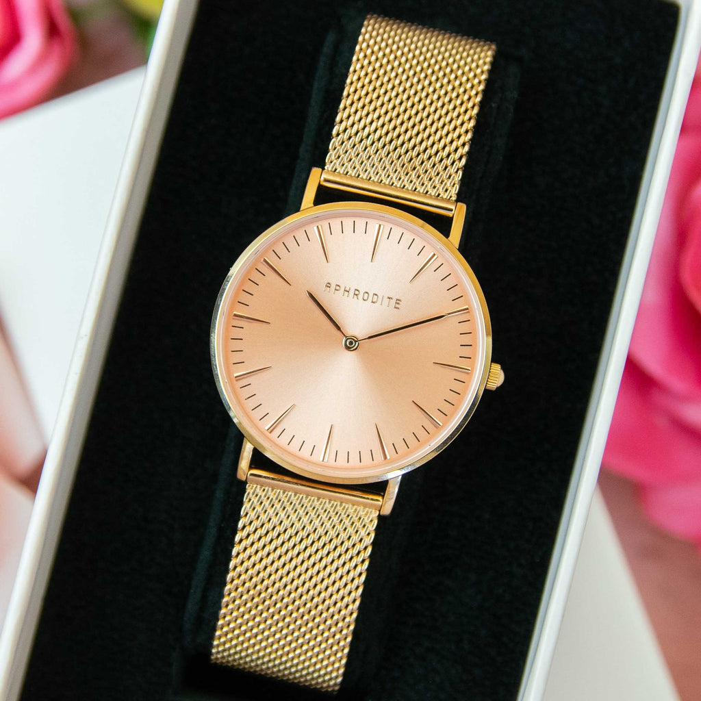 """Timeless"" - Rose Gold Mesh Watch"
