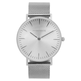 """Timeless"" - Silver Mesh Watch"