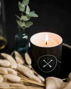 Wild Rose scented soy candle