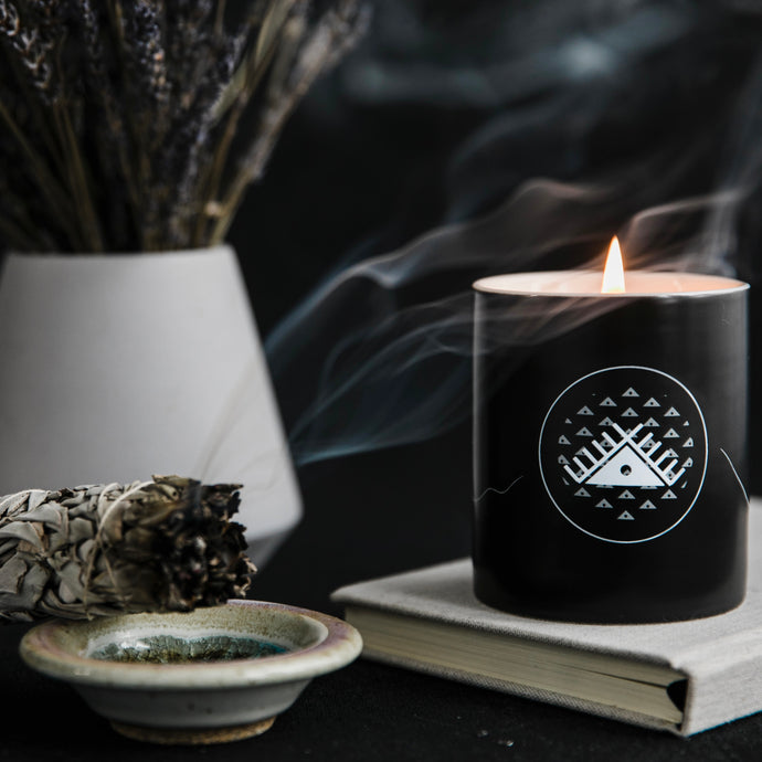 Peace lives within soy candle