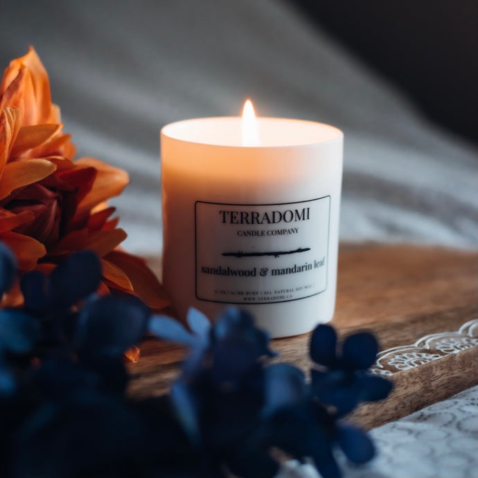 Sandalwood & Mandarin Leaf Candle