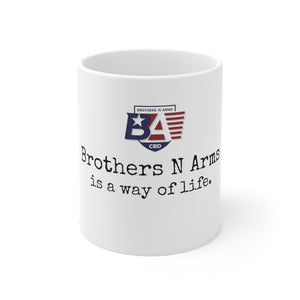 Load image into Gallery viewer, CBD Companion Mug 11oz - The Brothers N Arms