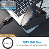 USB Computer Microphone, Plug &Play Desktop Omnidirectional Condenser PC Laptop Mic,Mute Button with LED indicator, compatible with Windows/Mac, ideal for Youtube,Skype,Recording,Games(1.5m /5ft)