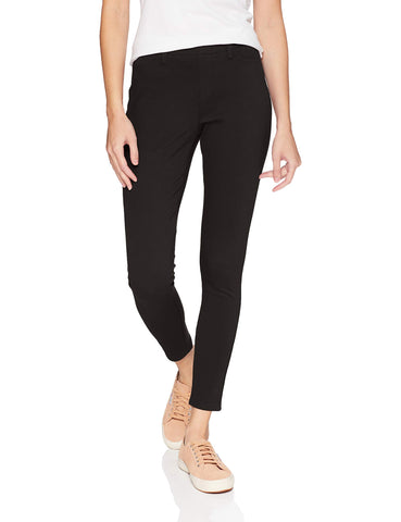 Amazon Essentials Women's Skinny Stretch Pull-On Knit Jegging, Black, Large Long