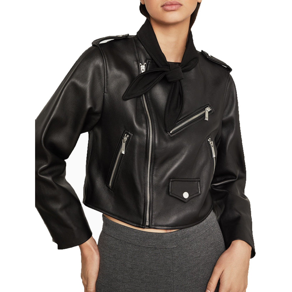 BCBGMAXAZRIA Aubree Leather Jacket
