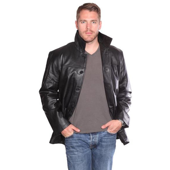 Nuborn Cowhide Leather Car Coat