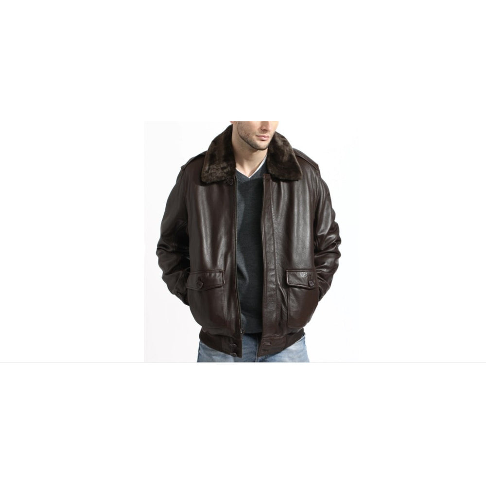 Tanners Avenue Aviator Bomber Leather Jacket