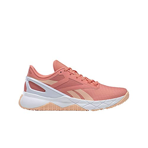 Reebok womens Nanoflex Cross Trainer, Twisted Coral/Aura Orange/White