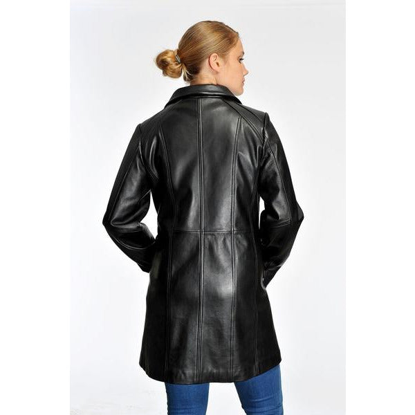 Mason & Cooper Marilyn Zip Front Leather Coat