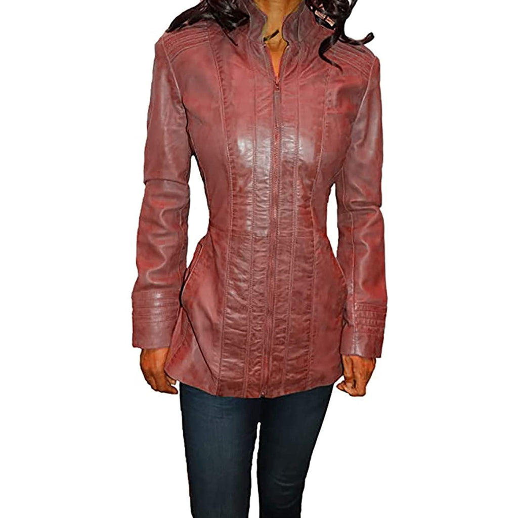Tibor Design Women's Scuba Leather Jacket