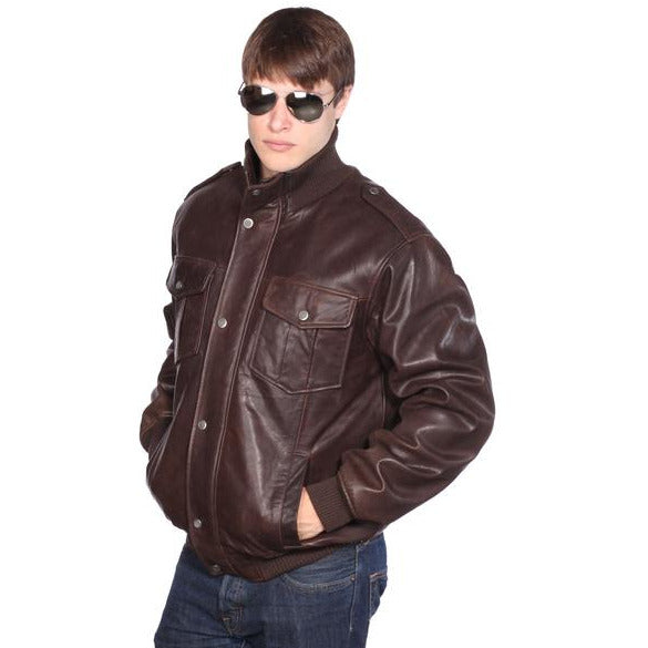 WILDA  Knox Leather Bomber Jacket