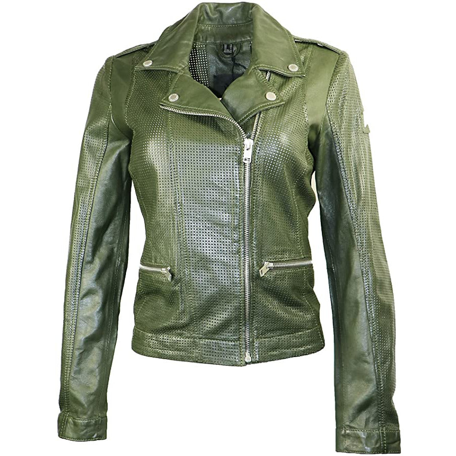 Mauritius Women's perforated Leather Jacket
