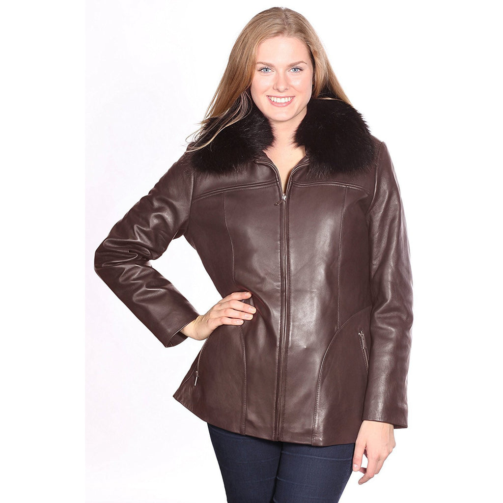 Mason & Cooper Leather Jacket with Fox Fur