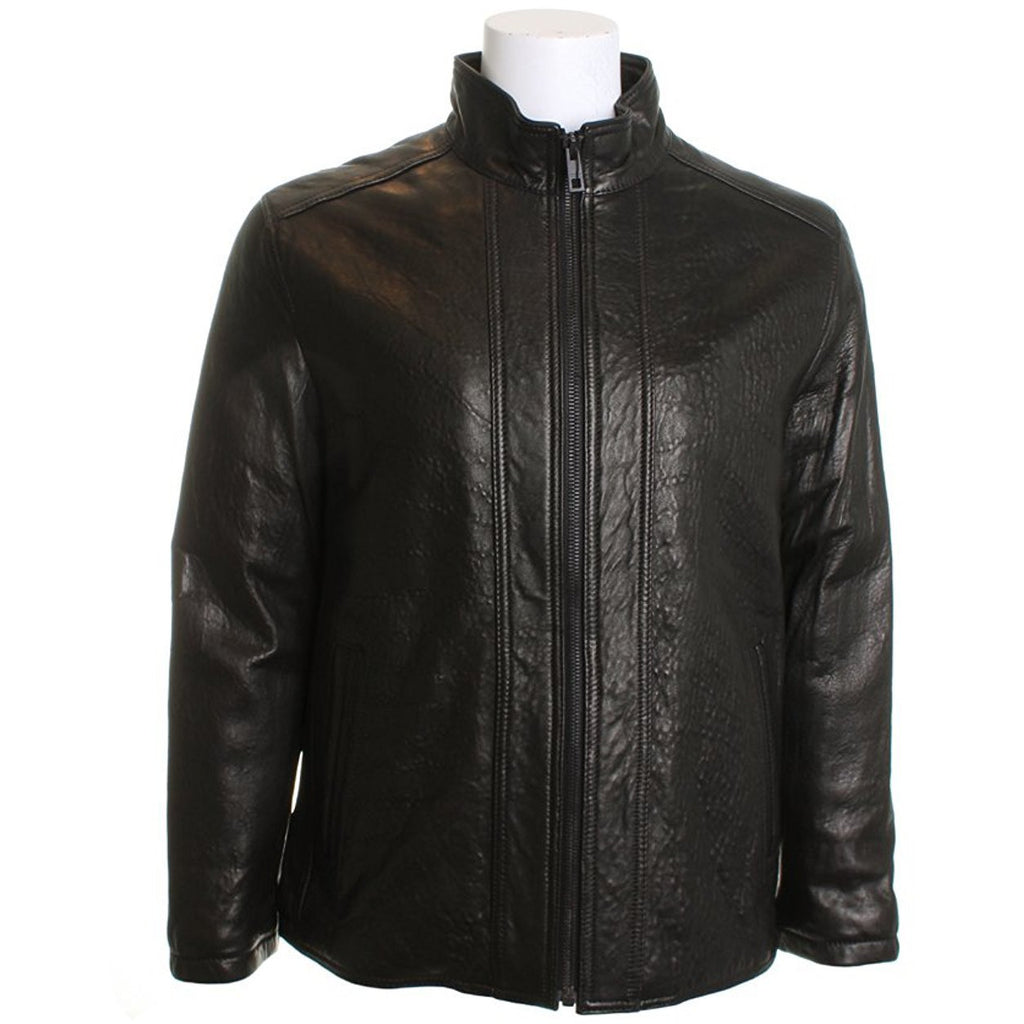 Marc New York by Andrew Marc Men's Zip Front Leather Jacket