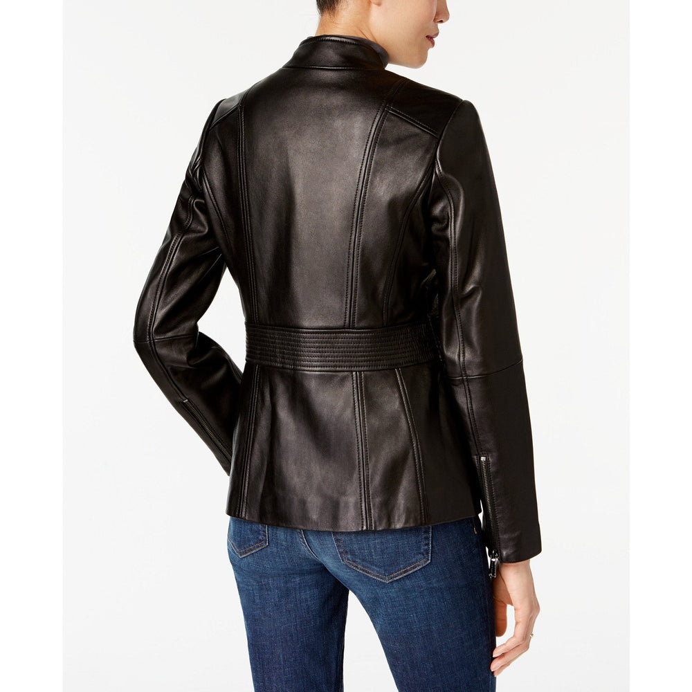 Anne Klein Asymmetrical Leather Jacket