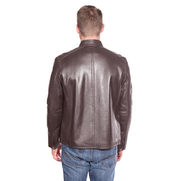 Christian NY Men's Stanton Leather Moto Jacket