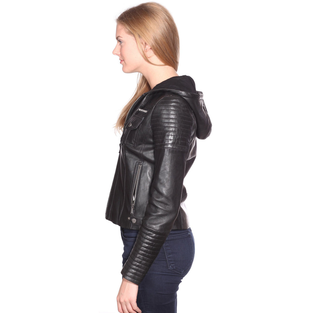 Christian Reed Hooded Leather Jacket