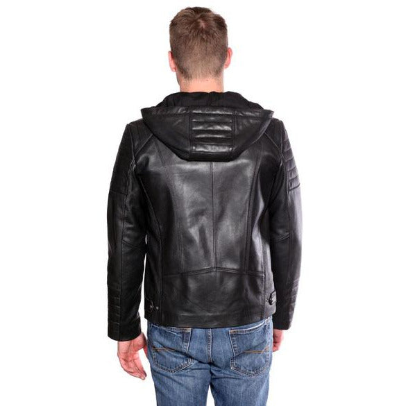 Christian New York Warden Hooded Leather Jacket