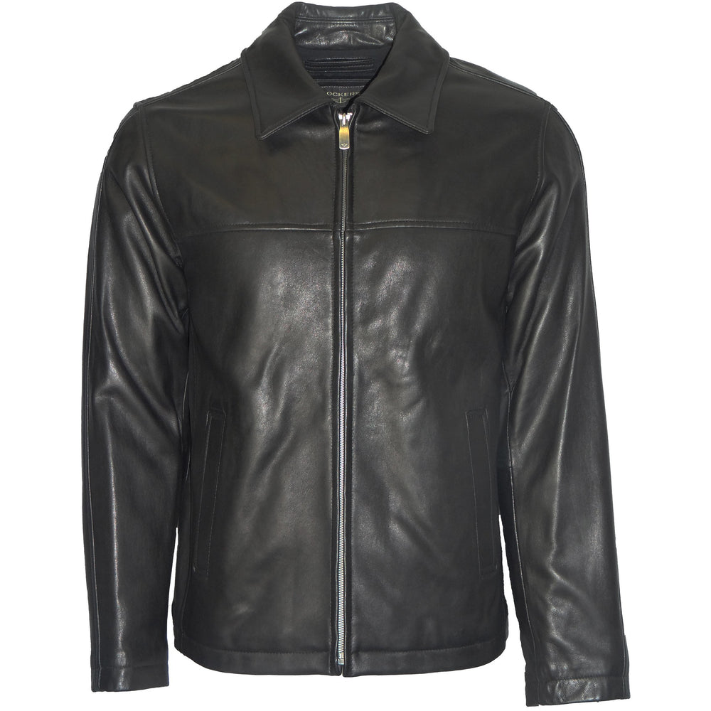 Dockers Men's Zip Front Leather Jacket